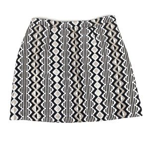MinkPink Black and Gold Tribal Print Skirt medium